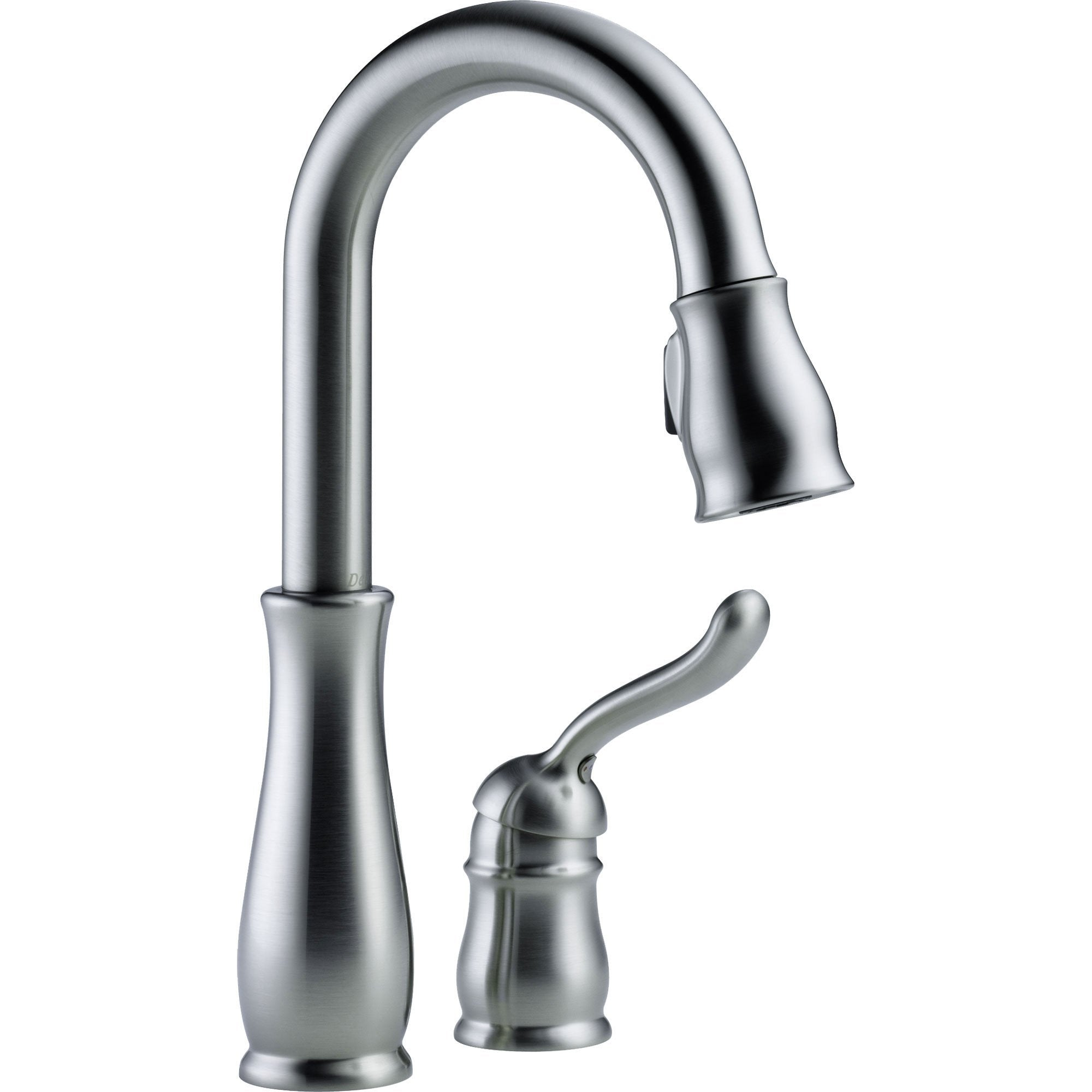 Delta Leland Arctic Stainless Single Handle Pull-Down Sprayer Bar Faucet 612347
