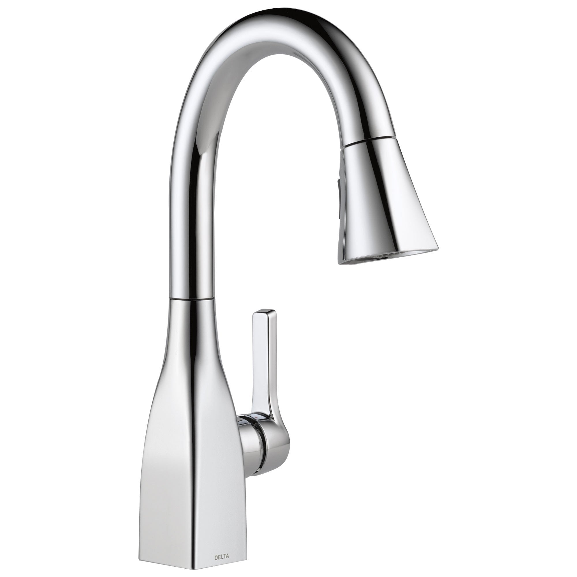 Delta Mateo Collection Chrome Finish Modern Single Handle Pull-Down Bar / Prep Sink Faucet 726276