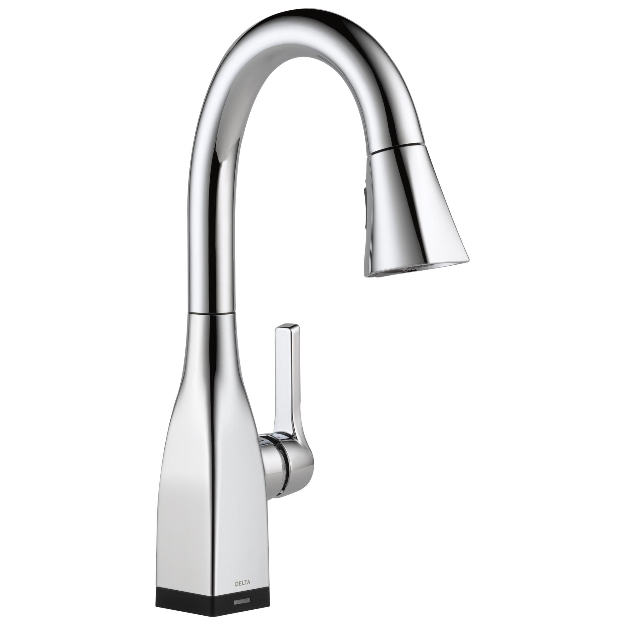 Delta Mateo Collection Chrome Finish Modern Single Handle Pull-Down Electronic Bar / Prep Sink Faucet with Touch2O Technology 732803