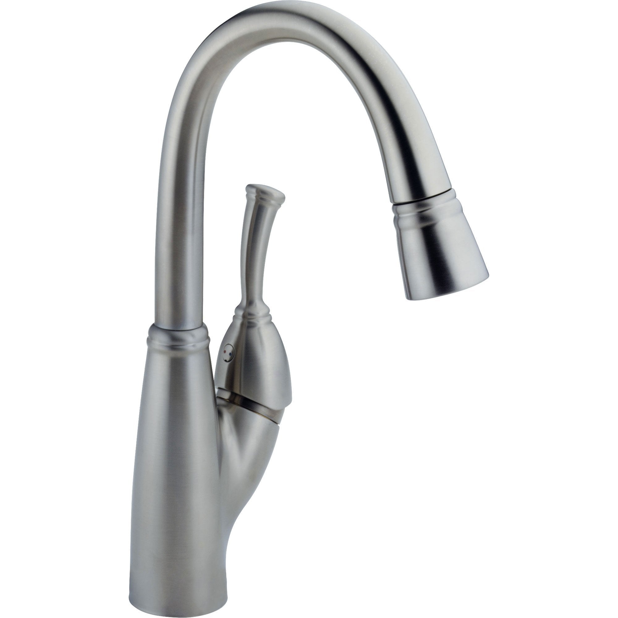 Delta Allora Arctic Stainless Single Handle Pull-Down Sprayer Bar Faucet 573006