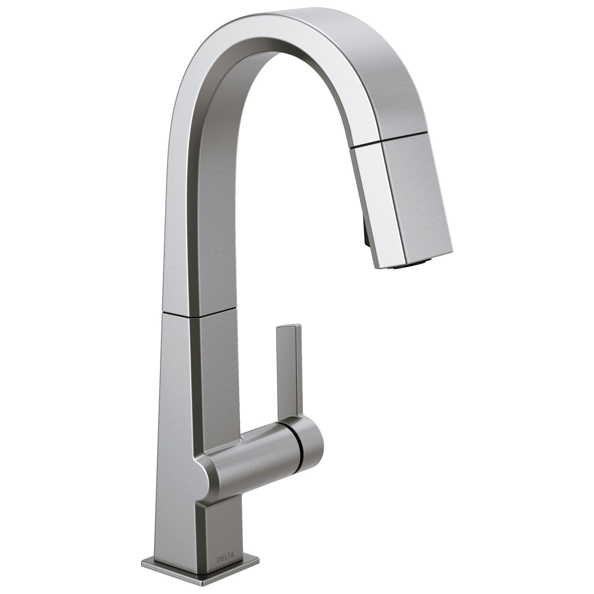 Delta Pivotal Arctic Stainless Steel Finish Single Handle Pull Down Bar/Prep Faucet D9993ARDST