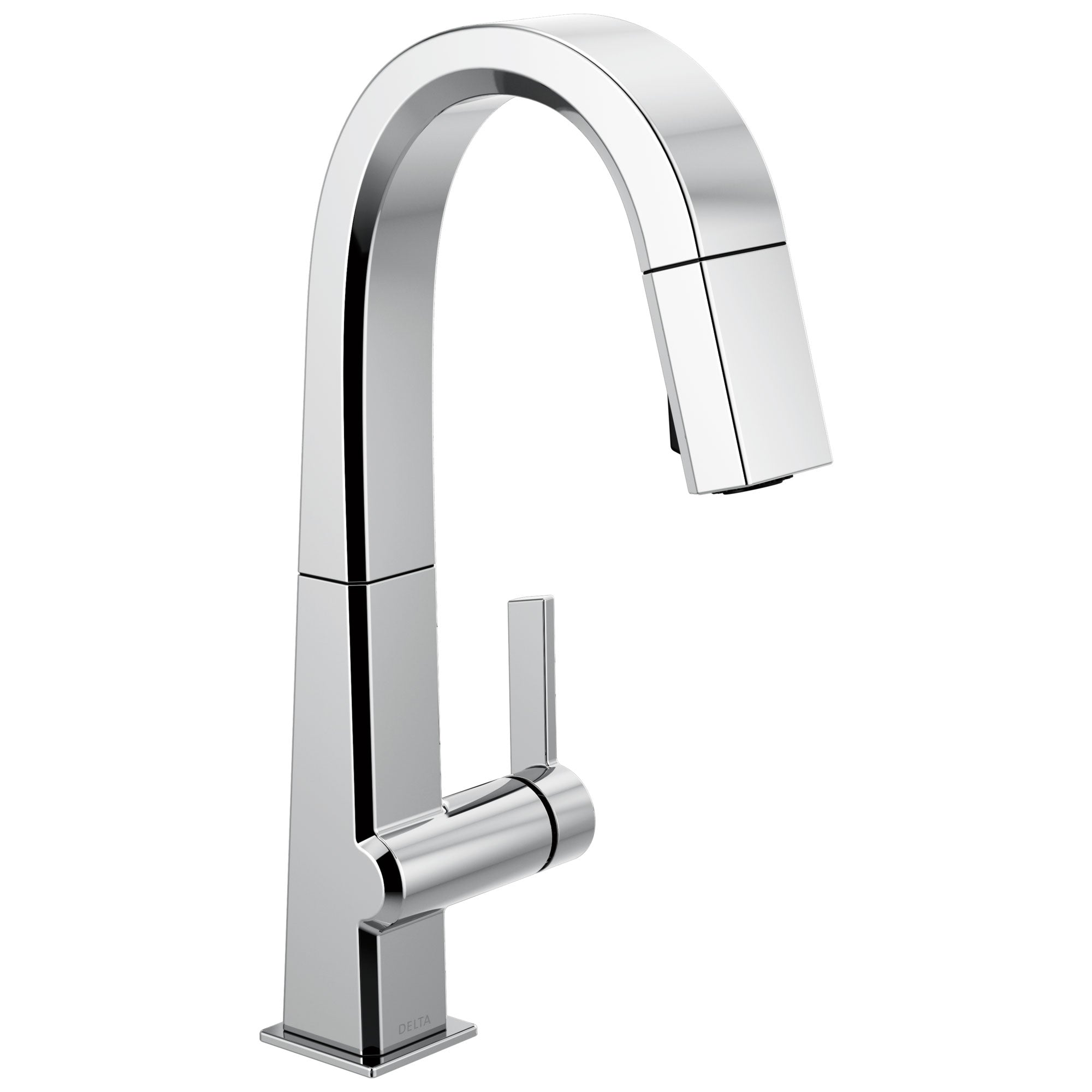 Delta Pivotal Chrome Finish Single Handle Pull Down Bar/Prep Faucet D9993DST