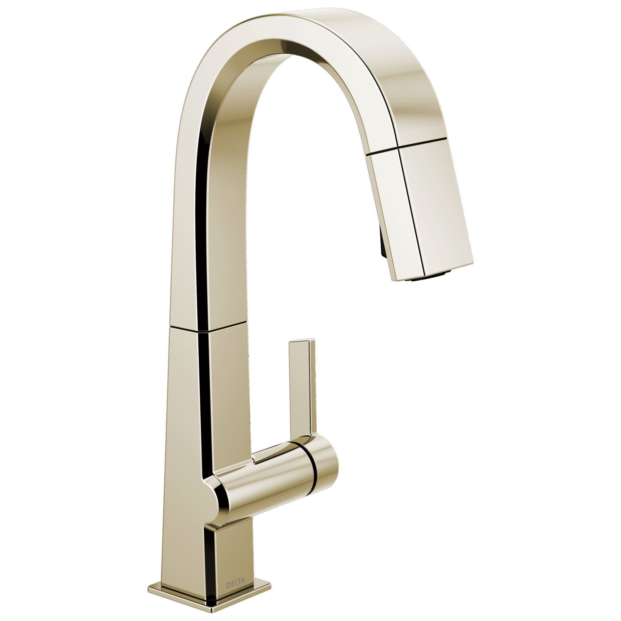 Delta Pivotal Polished Nickel Finish Single Handle Pull Down Bar/Prep Faucet D9993PNDST