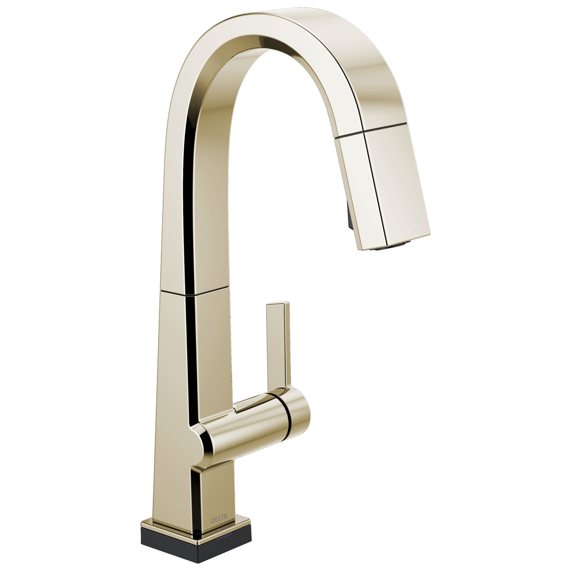 Delta Pivotal Polished Nickel Finish Single Handle Pull Down Bar/Prep Faucet With Touch2O Technology D9993TPNDST