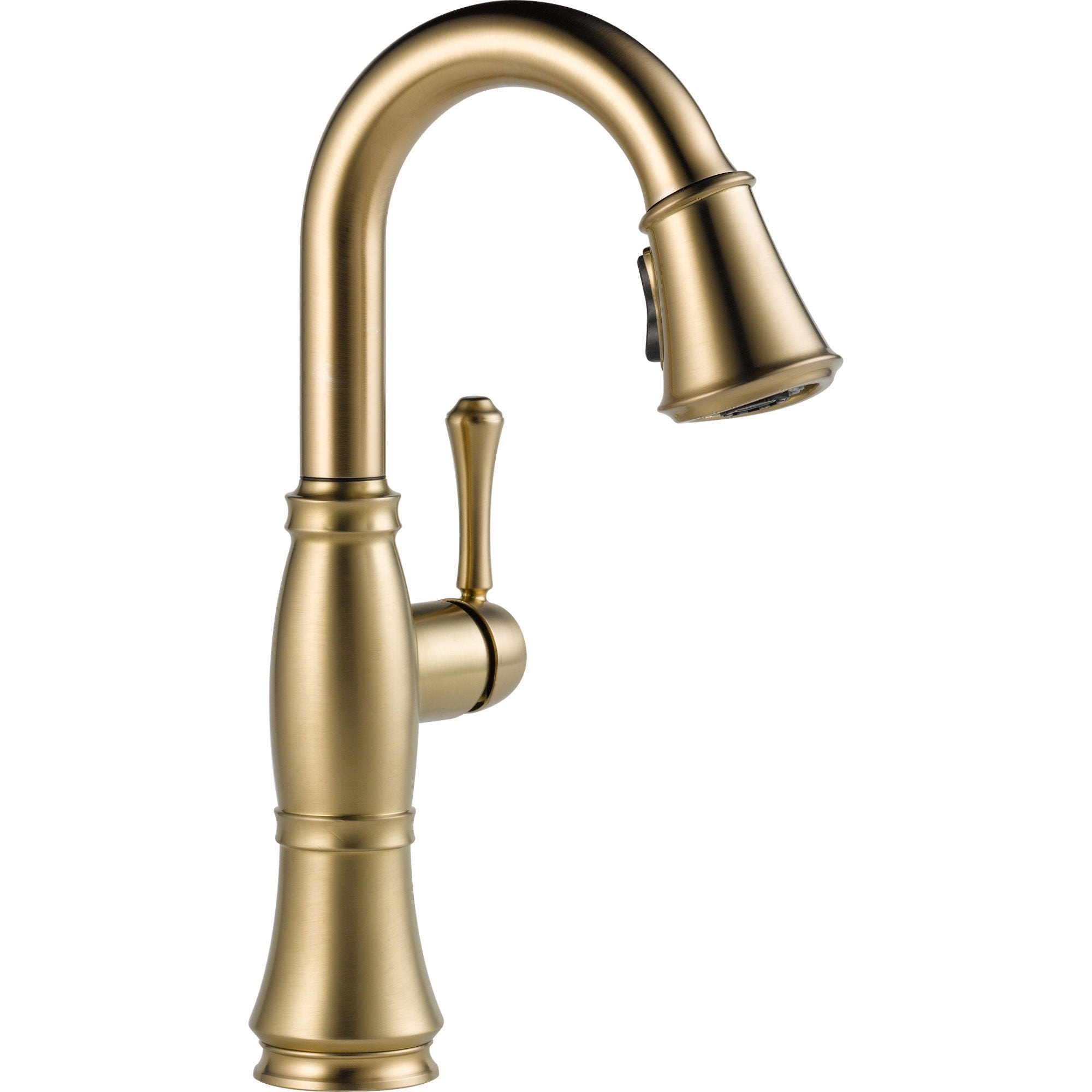 Delta Cassidy Champagne Bronze Single Handle Pull-Down Sprayer Bar Faucet 579598