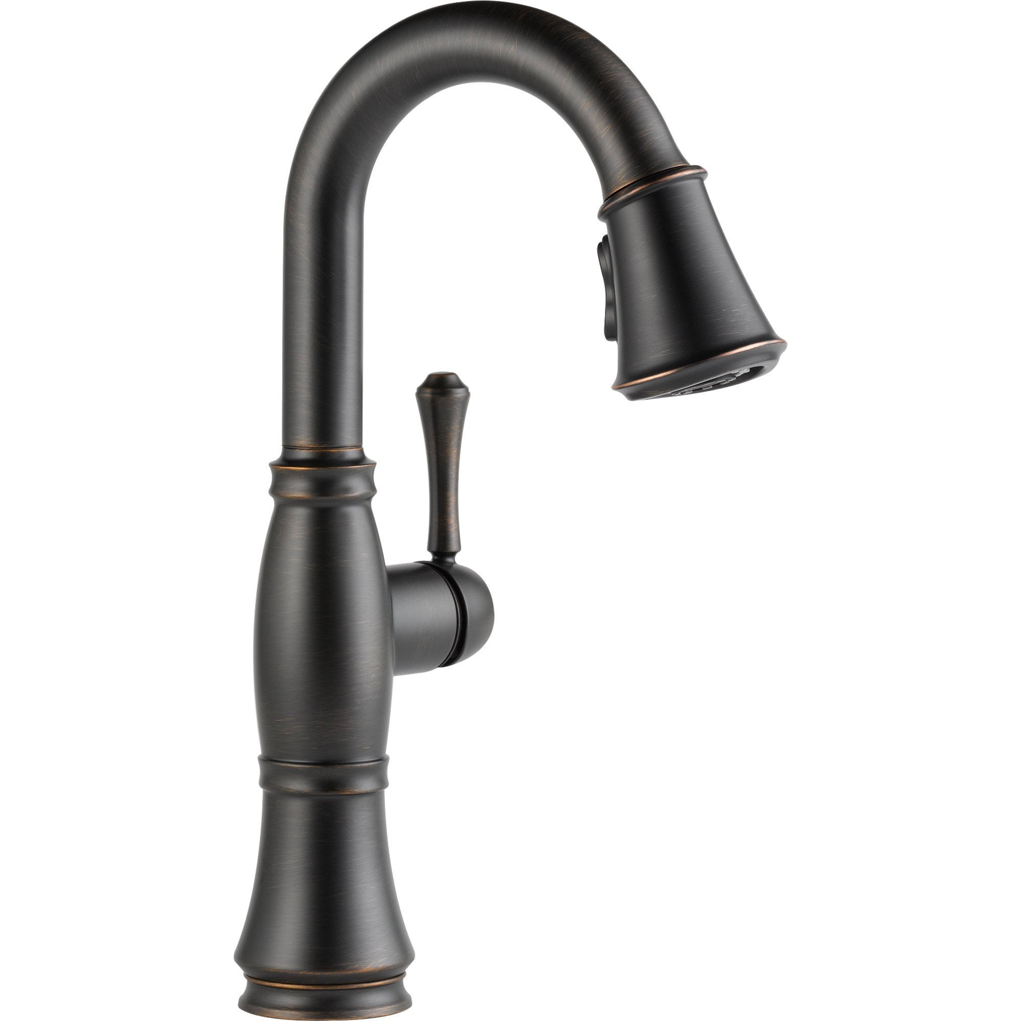 Delta Cassidy Venetian Bronze Single Handle Pull-Down Sprayer Bar Faucet 579600