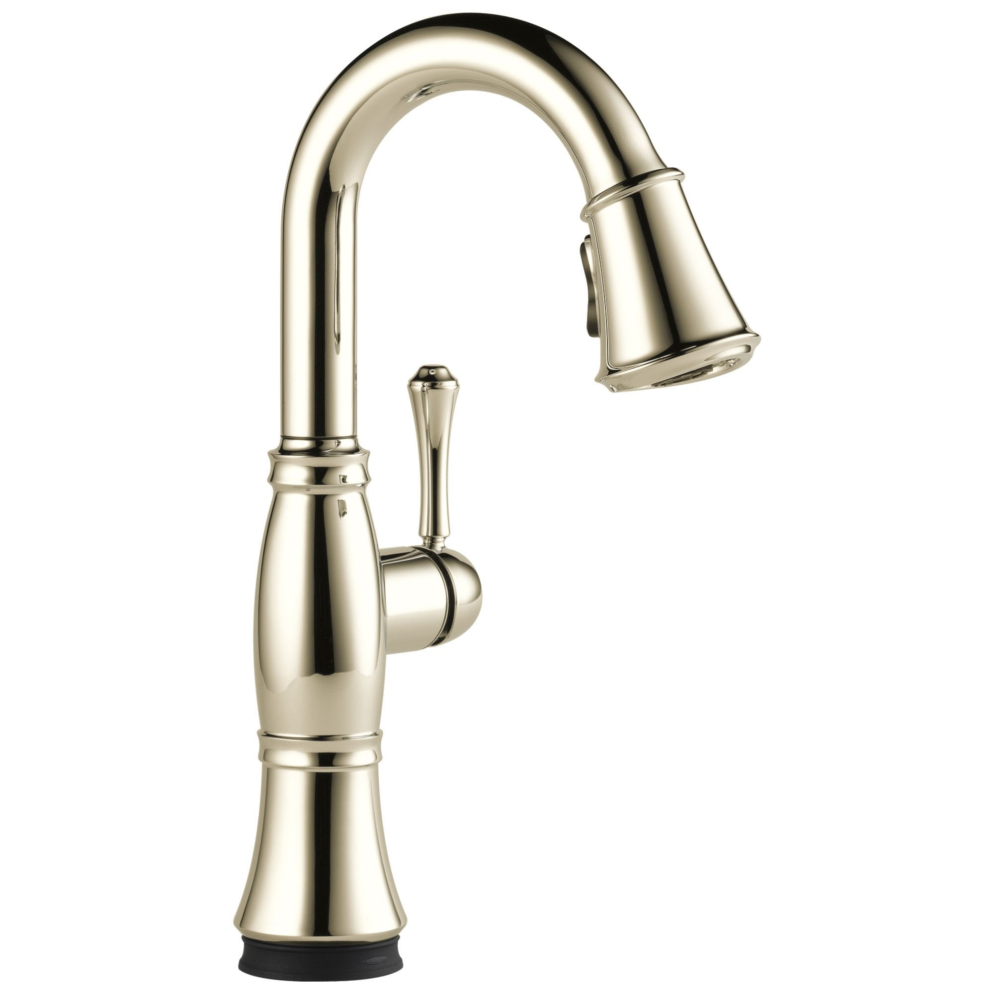 Delta Cassidy Collection Polished Nickel Finish Single Handle Electronic Pull-Down Bar / Prep Faucet with Touch2O Technology D9997TPNDST
