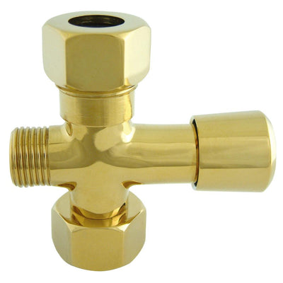 Kingston Polished Brass Shower Diverter button for use with Clawfoot tub Faucet