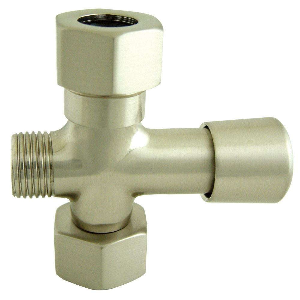 Kingston Satin Nickel Shower Diverter button for use with Clawfoot tub Faucet