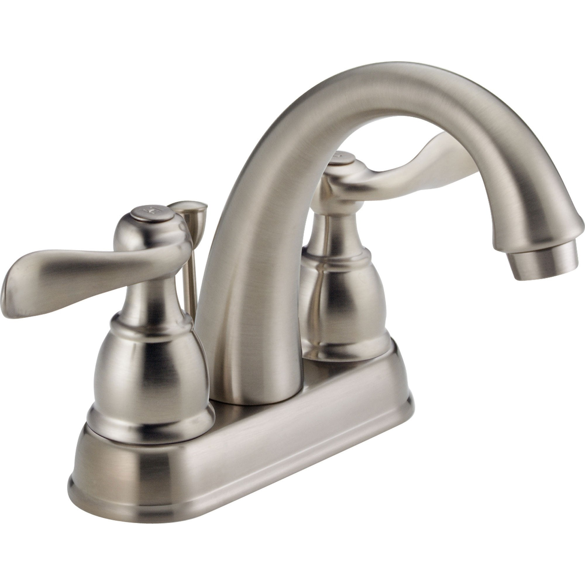 "Delta Windemere Stainless Steel Finish 4"" Centerset Bathroom Faucet 522519"