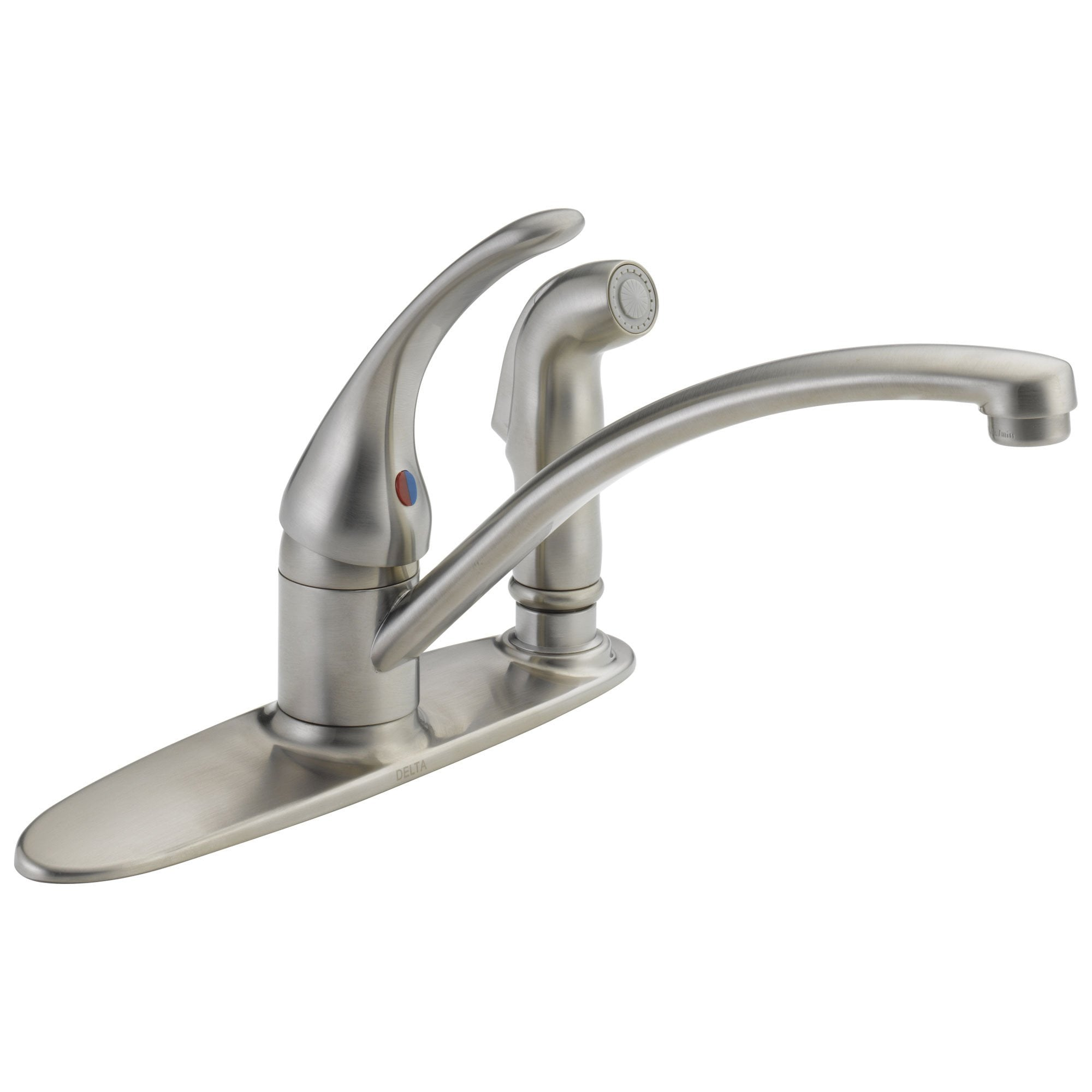 Delta Foundations Collection Stainless Steel Finish Single Handle Kitchen Faucet with Integral Vegetable Sprayer DB3310LFSS