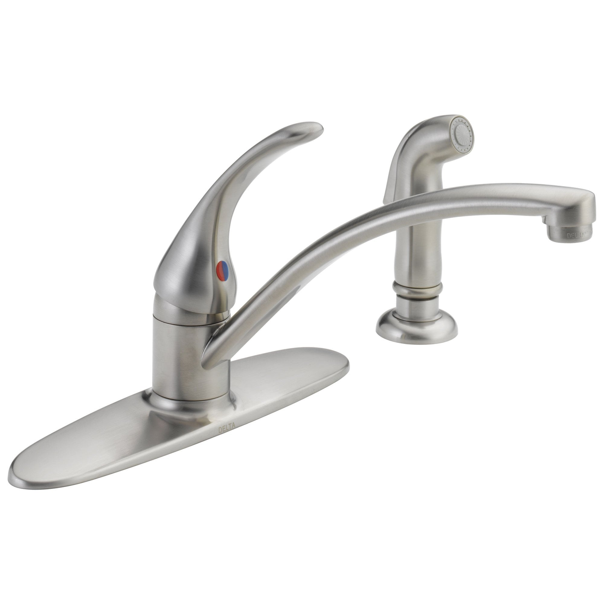 Delta Foundations Collection Stainless Steel Finish Single Handle Kitchen Faucet with Side Spray DB4410LFSS