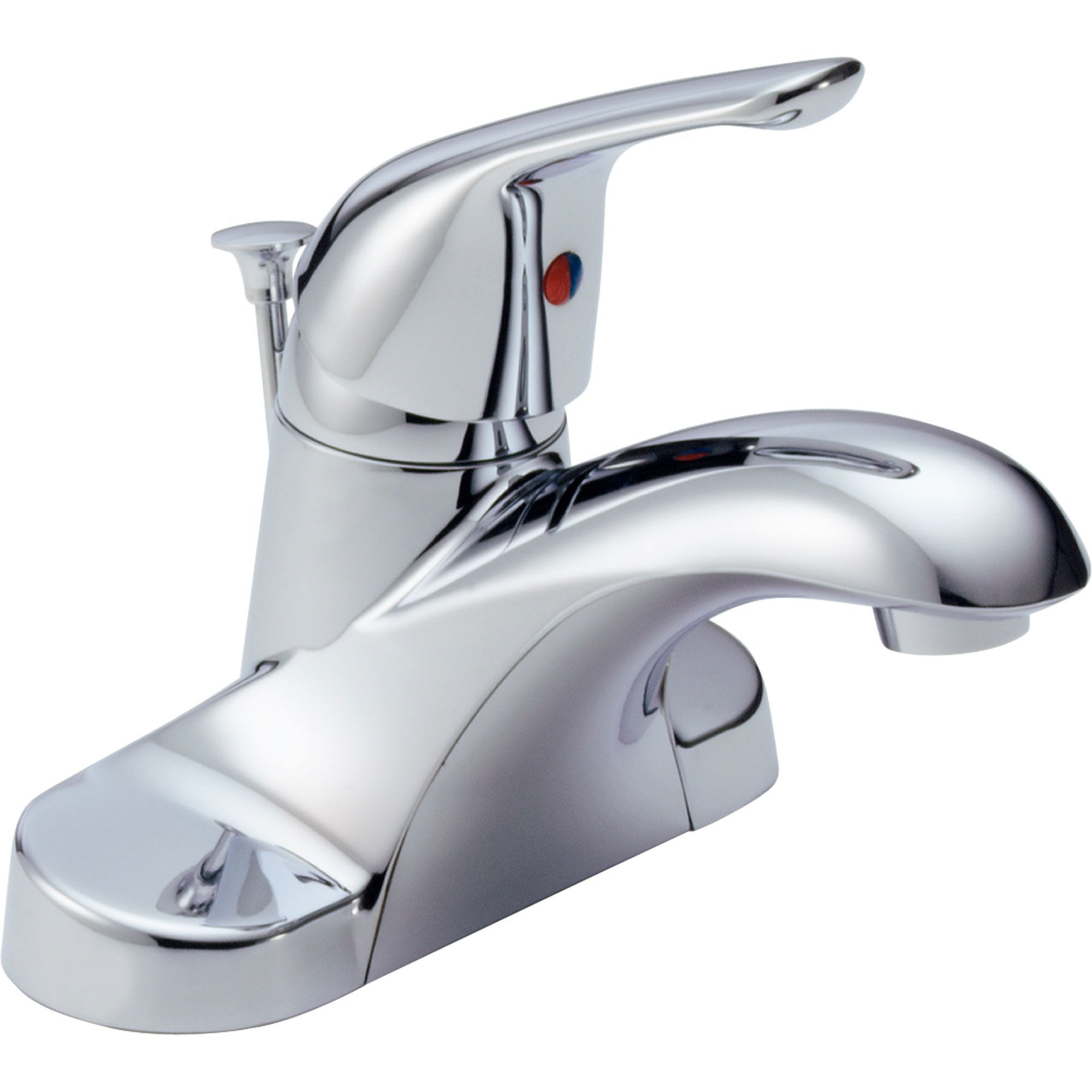 "Delta Foundations Chrome 4"" Centerset Single Handle Lavatory Faucet 542554"