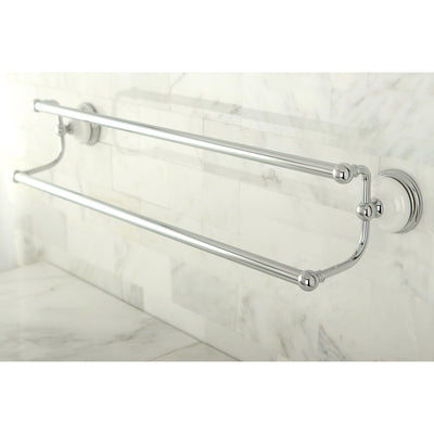 "Bathroom Accessories Chrome 24"" Double Towel Bar Dual Towel Rack BA1113C"