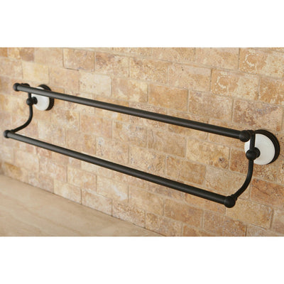 "Bathroom Accessories Oil Rubbed Bronze 24"" Double Dual Towel Bar Rack BA1113ORB"