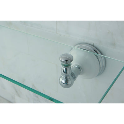 Kingston Brass Tempered Bathroom Glass Shelves Chrome Glass Shelf BA1119C