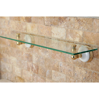 Kingston Tempered Bathroom Glass Shelves Polished Brass Glass Shelf BA1119PB