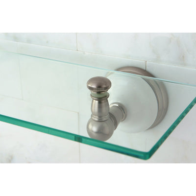 Kingston Tempered Bathroom Glass Shelves Satin Nickel Glass Shelf BA1119SN