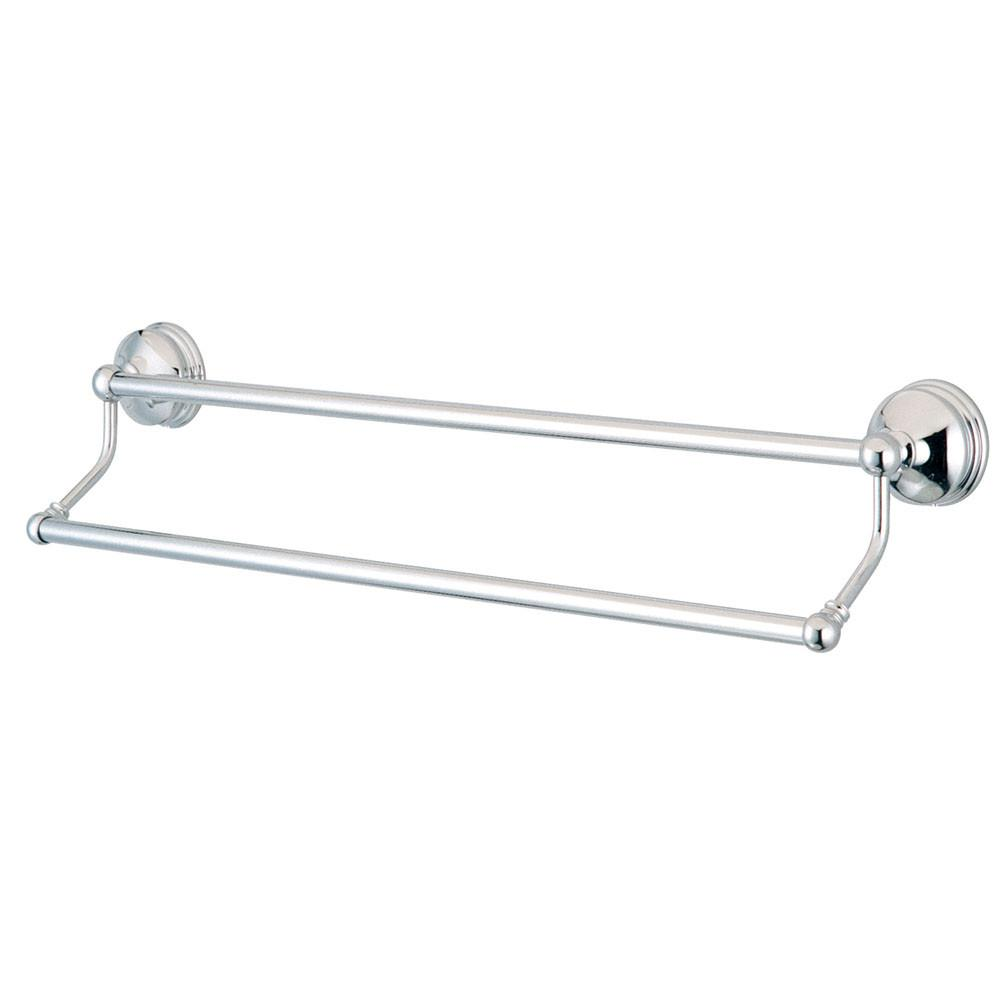 Bathroom Accessories Chrome 24 Double Towel Bar Dual Towel Rack