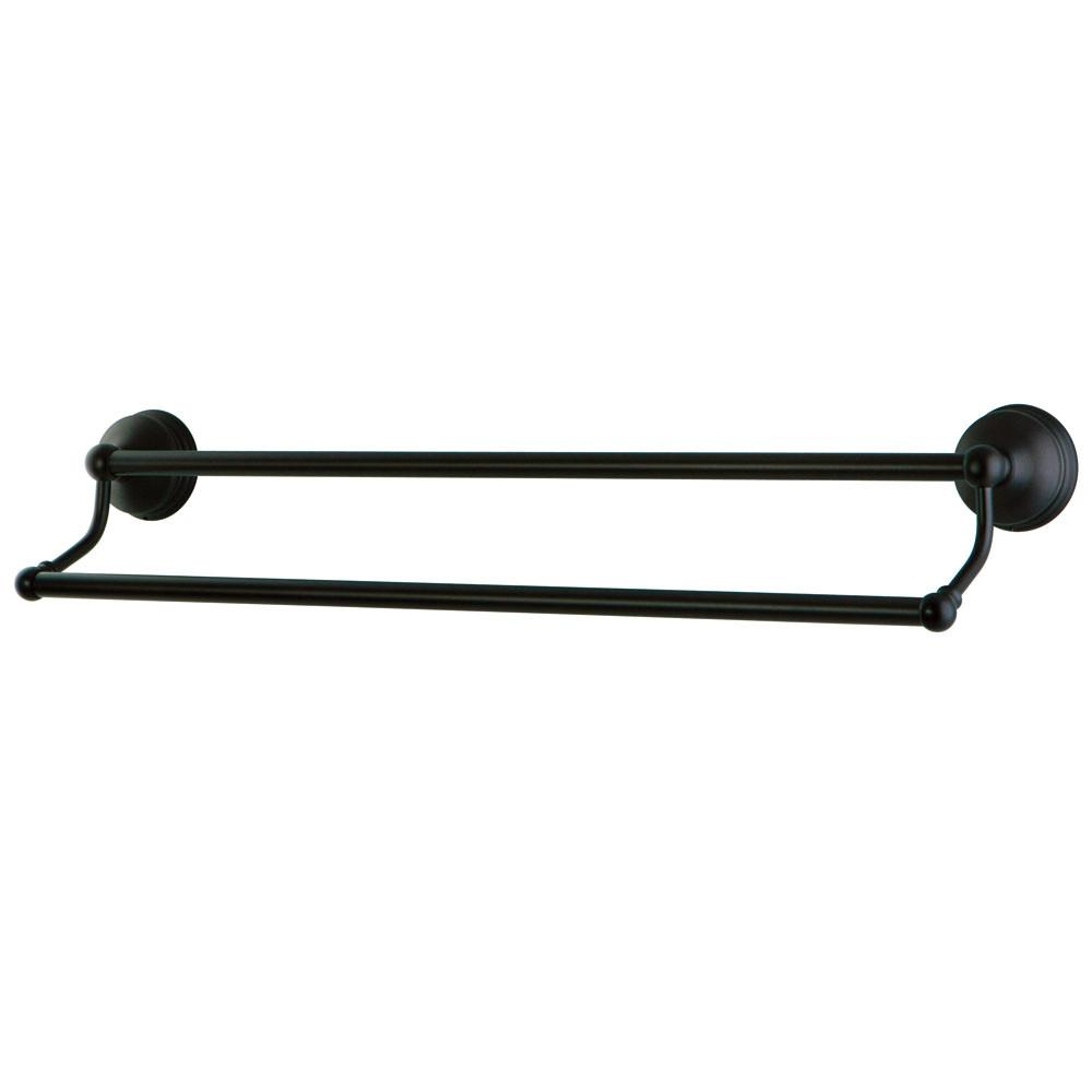 "Bathroom Accessories Oil Rubbed Bronze 24"" Double Dual Towel Bar Rack BA1163ORB"