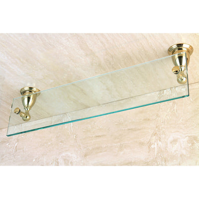 Kingston Tempered Bathroom Glass Shelves Polished Brass Glass Shelf BA1759PB