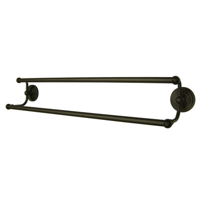 "Bathroom Accessories Oil Rubbed Bronze 24"" Double Dual Towel Bar Rack BA2713ORB"