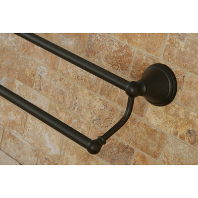 "Kingston Silver Sage Oil Rubbed Bronze 24"" Dual Double Towel Bar Rack BA2973ORB"