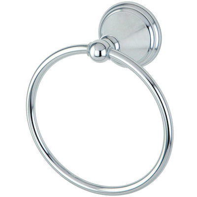 "Kingston Brass Silver Sage Chrome 6"" Hand Towel Ring Rack BA2974C"