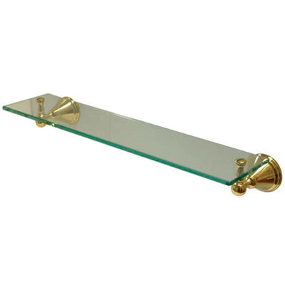 Kingston Brass Silver Sage Polished Brass Wall Mounted Glass Shelf BA2979PB