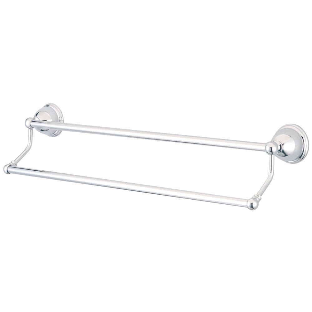 "Bathroom Accessories Chrome 24"" Double Towel Bar Dual Towel Rack BA3963C"