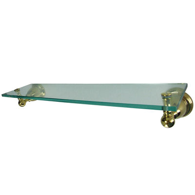 Kingston Tempered Bathroom Glass Shelves Polished Brass Glass Shelf BA3969PB