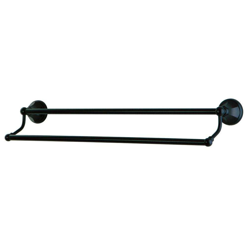 "Bathroom Accessories Oil Rubbed Bronze 24"" Double Dual Towel Bar Rack BA4813ORB"