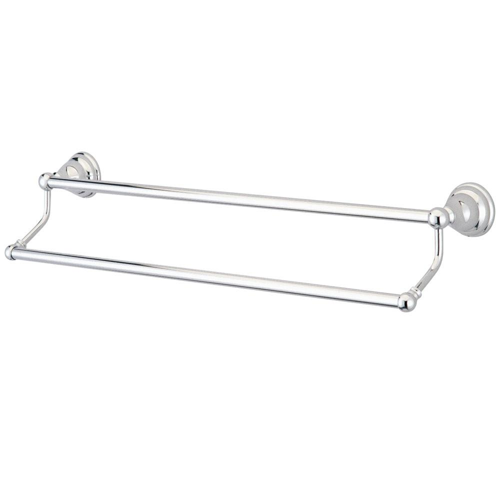 "Bathroom Accessories Chrome 24"" Double Towel Bar Dual Towel Rack BA5563C"
