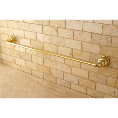 "Kingston Brass Polished Brass Magellan 24"" towel rack single towel bar BA601PB"