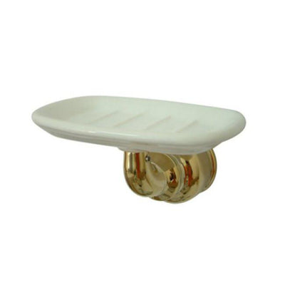 Kingston Brass Polished Brass Magellan wall mount soap dish holder BA605PB