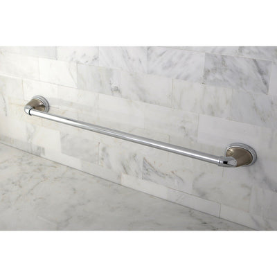 "Kingston Satin Nickel/Chrome Magellan ii 24"" single towel bar rack BA621SNCP"