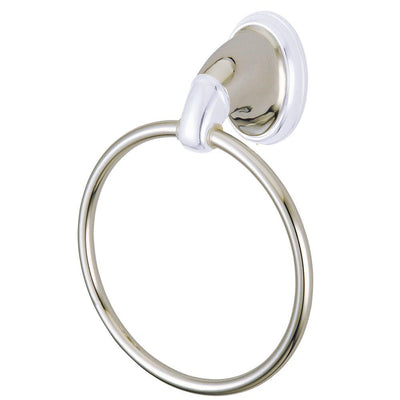 "Kingston Satin Nickel/Chrome Magellan ii 6"" towel rack hand towel ring BA624SNCP"