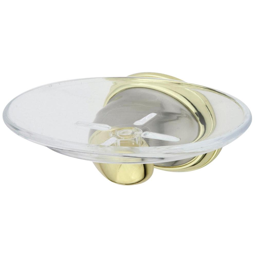 Kingston Satin Nickel/Polished Brass Magellan ii wall mount soap dish BA625SNPB