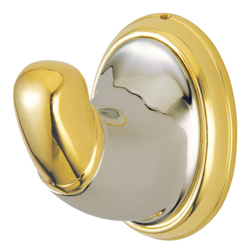Kingston Satin Nickel/Polished Brass Magellan ii wall mount robe hook BA627SNPB