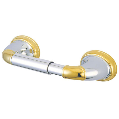 Kingston Chrome/Polished Brass Magellan ii toilet tissue paper holder BA628CPB
