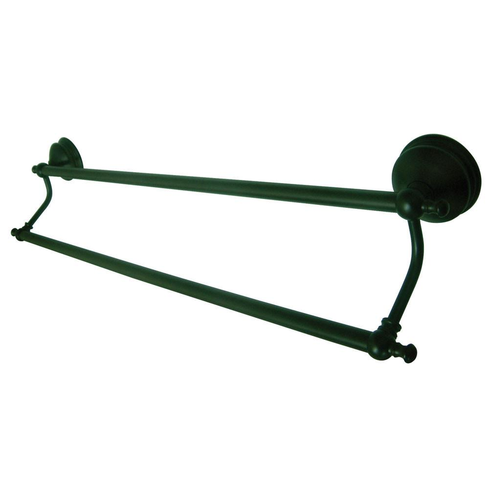 "Bathroom Accessories Oil Rubbed Bronze 24"" Double Dual Towel Bar Rack BA7613ORB"