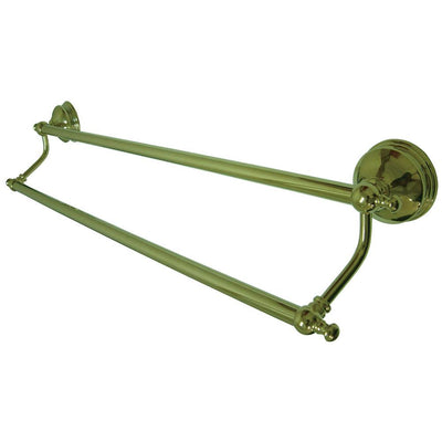 "Bathroom Accessory Polished Brass 24"" Double Towel Bar Dual Towel Rack BA7613PB"