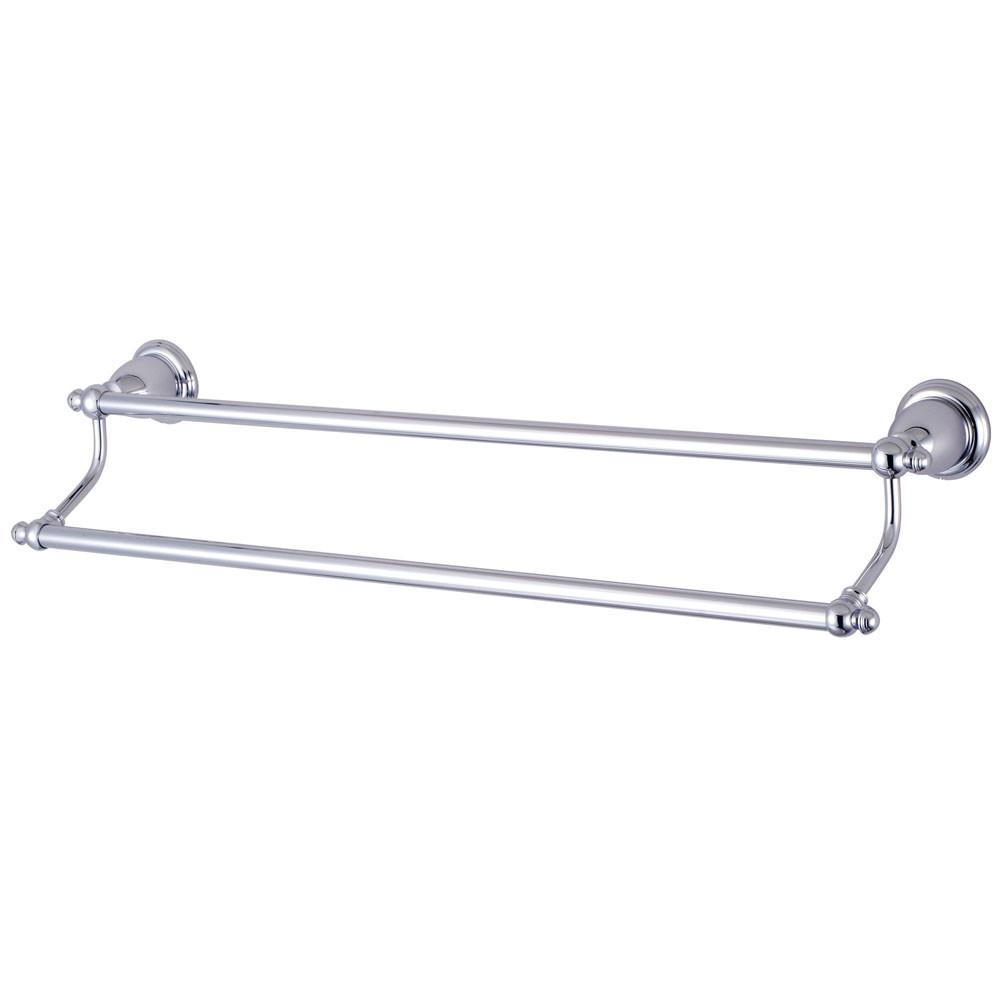 "Kingston Brass Chrome English Vintage 24"" Dual Double Towel Bar BA7973C"