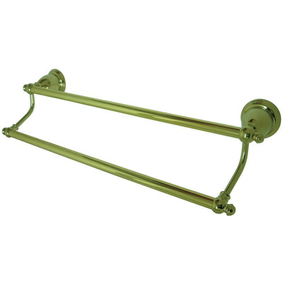 "Kingston Brass Polished Brass English Vintage 24"" Dual Double Towel Bar BA7973PB"