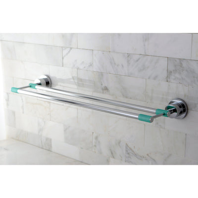 "Kingston Green Eden Chrome Bathroom Accessory: 24"" Double Towel Bar BA8213CDGL"