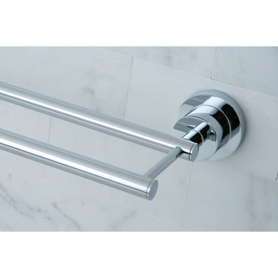 "Kingston Brass Concord Bathroom Accessories Chrome 24"" Double Towel Bar BA8213C"