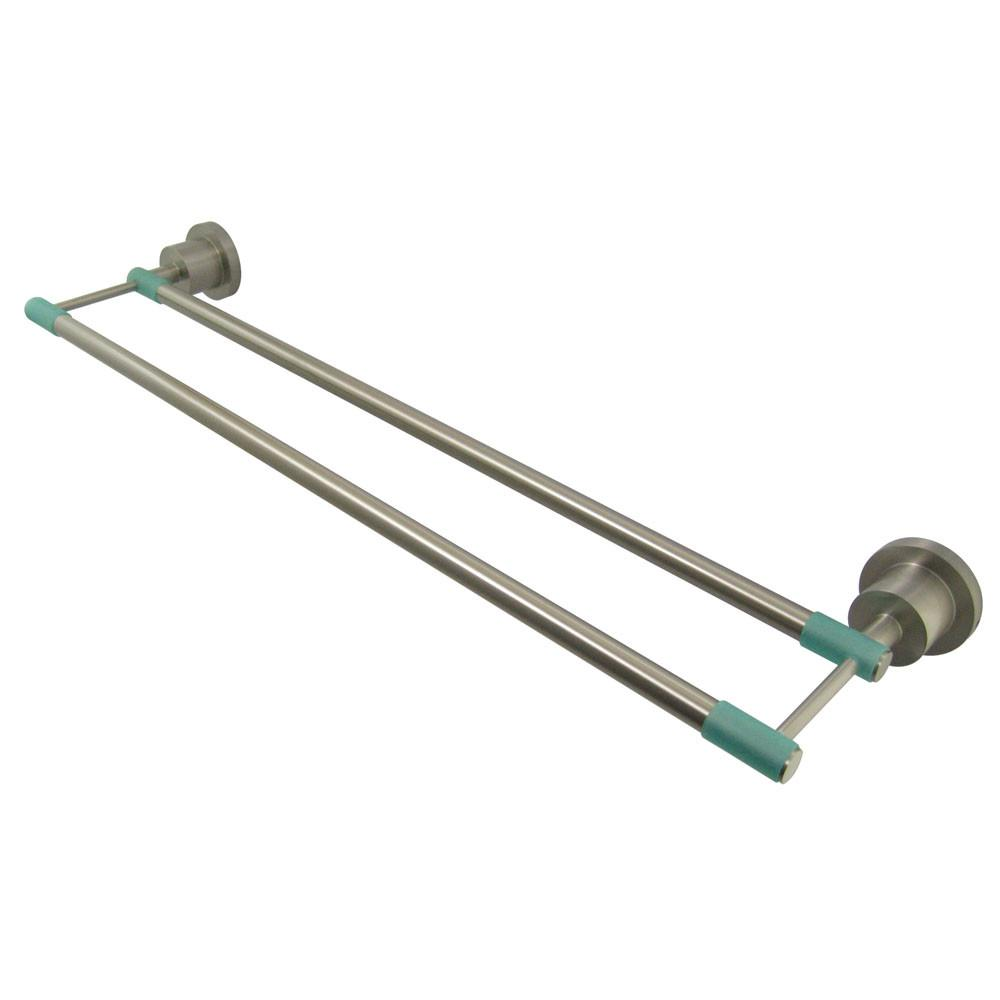 "Kingston Green Eden Satin Nickel 24"" Double Towel Bar BA8213SNDGL"