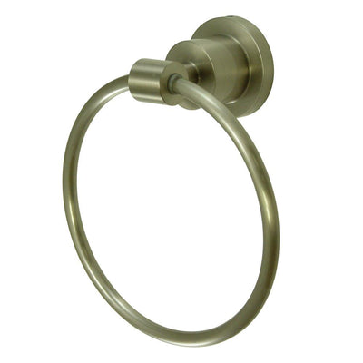 "Kingston Brass Concord Bathroom Accessories Satin Nickel 6"" Towel Ring BA8214SN"