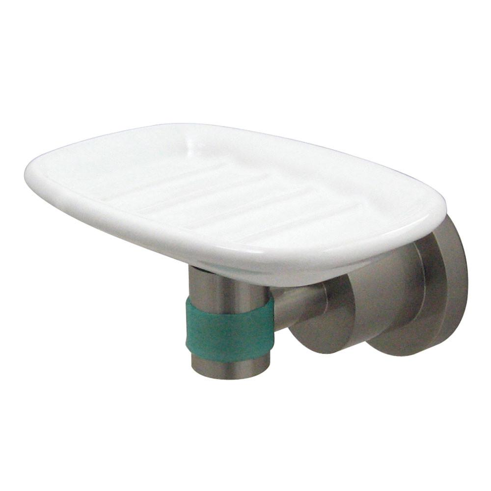Kingston Brass Green Eden Satin Nickel Bathroom Accessory: Soap Dish BA8215SNDGL