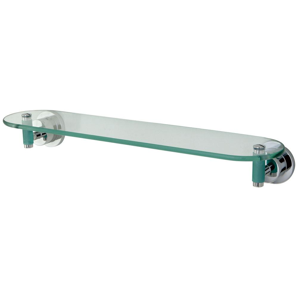 "Kingston Brass Green Eden Chrome Bathroom Accessory: 20"" Glass Shelf BA8219CDGL"